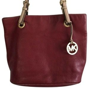 MICHAEL KORS Red Leather Tote